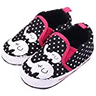 Femizee Infant Newborn Baby Boy Girl Soft Anti-Slip Crib Shoes Sneakers Black Elephant 0-6 Months