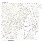 Norristown Pa Zip Code Map.Amazon Com Zip Code Wall Map Of Norristown Pa Zip Code Map