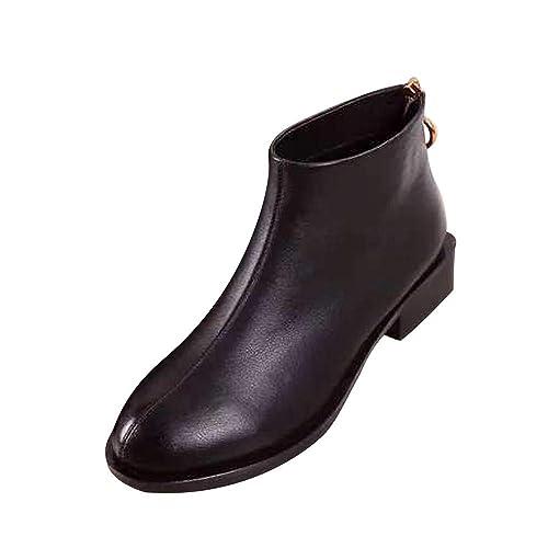 Rawdah Botas Mujer Invierno Plaza con Botines Botines de Mujer con Cabeza Cuadrada Martin Boots Zapatos Mujer Plataforma: Amazon.es: Zapatos y complementos