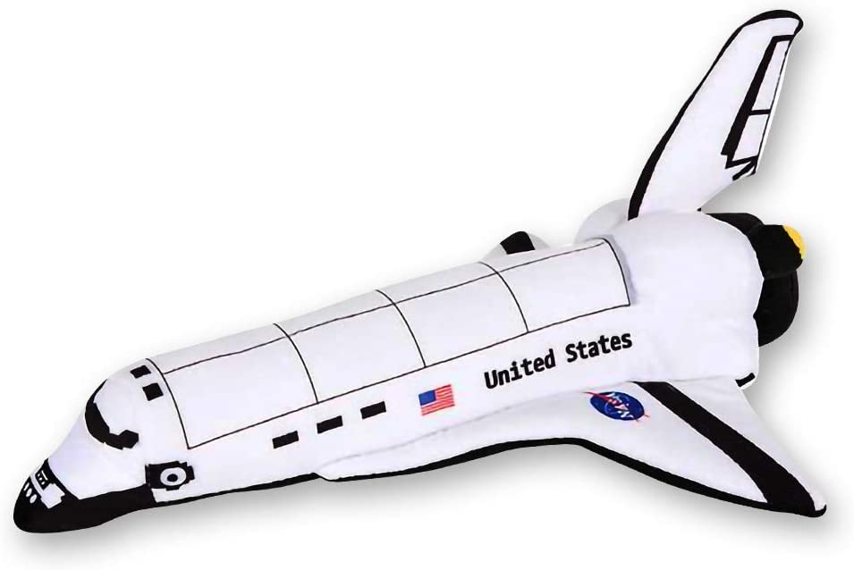 ArtCreativity Stuffed Space Shuttle Plush Toy for Kids - 14 Inch Soft and Cuddly Astronaut Spaceship for Toddlers - Cute Nursery Décor and Bedtime Toy, Best Gift for Birthday or Baby Shower