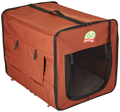 (Go Pet Club AB32 Soft Dog Crate, Brown - 32 inches L x 22.2 inches W x 23.5 inches H)