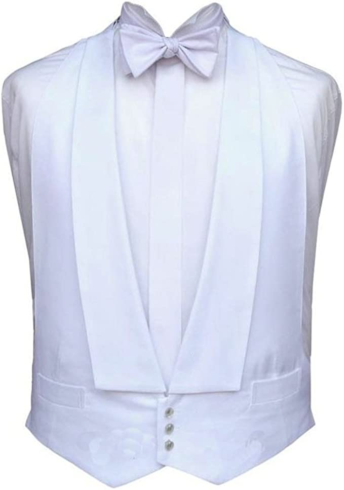 1920s Fashion for Men White Marcella Dress Waistcoat for Evening / Tail Suit - medium £29.50 AT vintagedancer.com