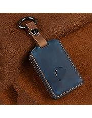 HUAQIANYU Auto sleutelhanger, lederen autosleutel cover FOB, voor Volvo XC40 XC60 S90 XC90 V90 T5 T6 T8 Auto sleutelhanger autosleutel Case autosleutel beschermen