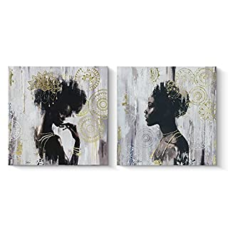 African american wall art and decor do it yourselfore pi art african american black art canvas art gold wall decor framed wall art for solutioingenieria Images