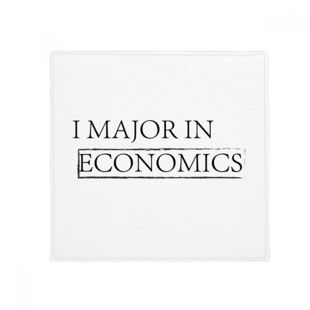 DIYthinker Quote I Major in Economics Anti-Slip Floor Pet Mat Square Home Kitchen Door 80Cm Gift
