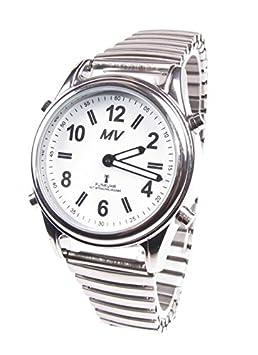Sprechende Funk-Armbanduhr Damen & Herren Metall-Gliederarmband Stile Herrenuhr