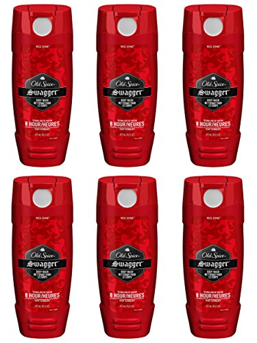 Men Hydrating Body Wash (Old Spice Red Zone Men's Body Wash, Swagger, 16 Fluid Ounce (Pack of 6))