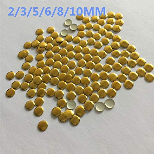 Color: 8mm 100pcs Pukido All Sizes 3MM-10MM Brass Material round Hot fix rhinestuds Metal Studs Round Shape sliver color for clothing//shoes//hat