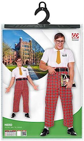 Widmann 07881 Costume Nerd pour homme Rouge//blanc Taille S
