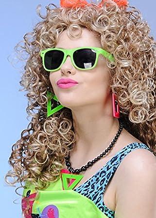 NEON PINK NECKLACE BEADS FANCY DRESS ACCESSORIES 80S COSTUME JEWELLERY 80S DISCO