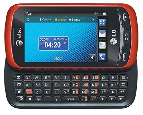 LG Xpression C395 Qwerty Keyboard Slider Cellphone GSM Unlocked - Red (Cell With Phones Lg Keyboard)