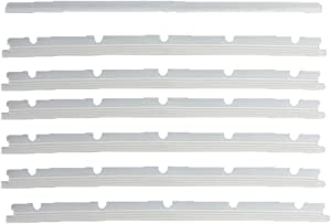 KingBra Vacuum Cleaner Accessories Replacement 6pcs Roller Brush Strips + 1pcs Protective Strips Cleaner for Neato XV Series XV-11 XV-12 XV-14 XV-15 XV-2 Vacuum Cleaner (7pcs per Pack,Transparent)