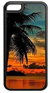 Guam Sunset- Hard Black Plastic Case- for the Apple iPhone 4, 4s Universal