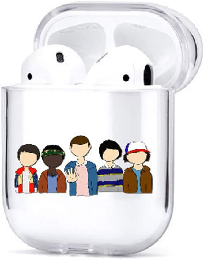 Resistente al Agua Huabing Stranger Things Funda para AirPods Compatible con Apple AirPods 1//2 Regalo para ni/ños y ni/ñas con mosquet/ón Funda Protectora de PC
