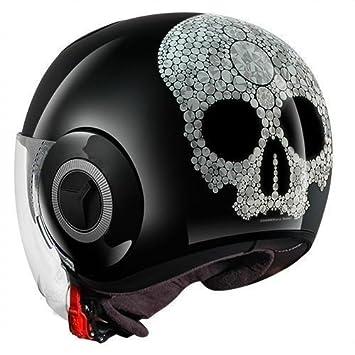 Shark casco Moto Nano Jewel KSX, Negro, talla XS
