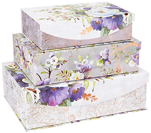 Punch Studio Nested Box Set, Silver Lilac & Sage