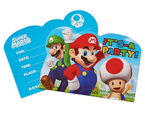 Buy super mario birthday party invitations