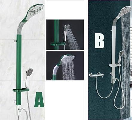 Columna de ducha de aleación de aluminio, color verde y blanco con ...