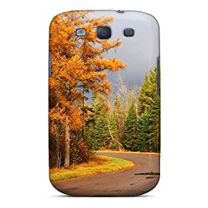 New Style Case Cover RxIwqeg8003PyCWX Autumn Free Autumn Road 84 Compatible With Galaxy S3 Protection Case