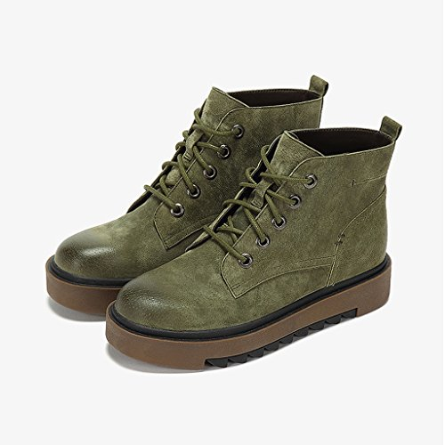 Women's Martin boots winter retro personality thin section short boots tide shoes ( Color : Green , Size : US:5UK:4EUR:35 ) by LI SHI XIANG SHOP (Image #1)