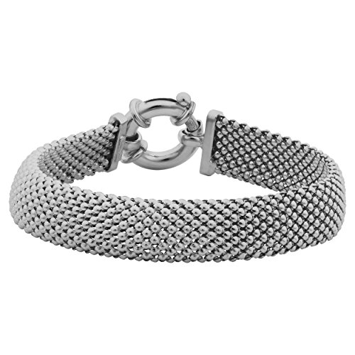Sterling Silver Mesh Bracelet (Sterling Silver Mesh Bracelet (11.5mm, 7.5 inch))