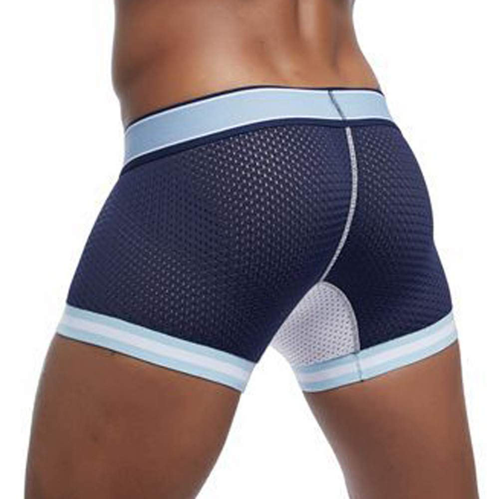YUTAO Mens Mesh Splicing Boxer Pants Men Underwear Underpants Breathable Soft Panties