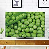 "PRUNUS Protect Your TV Ripe Green peas in a pod Protect Your TV W20 x H40 INCH/TV 40""-43"""