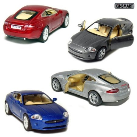 - Set of 4: 5' Jaguar XK Coupe 1:38 Scale (Blue/Grey/Red/Silver)
