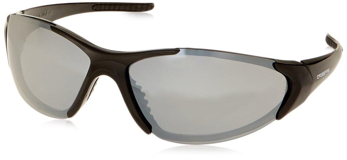 35e2448cd5 Crossfire 1863 Core Safety Glasses Silver Mirror Lens - Shiny Black Frame - Safety  Glasses - Amazon.com