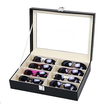 ZuoLan Lunettes Boîtes lunettes de soleil Bijoux Coffret Présentoir Boîte  de Rangement Faux cuir Nior ( 4618d3198374