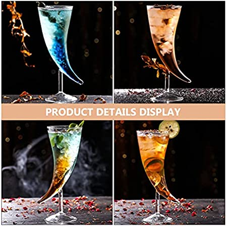 Hemoton Vaso de Cóctel con Forma de Copa de Cristal Creativa Copa de Bebida Novedosa Taza de Helado de Postre Transparente Copa de Martini Decodificador para Bar Hogar