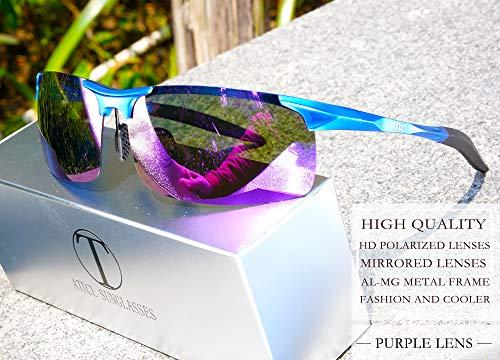 Metal Attcl Polarizzati Occhiali mg Al Blu Light Uomo Guidare viola Black Per Uomini Sole Super Da 8177 Frame Gli xrr5OwI1q
