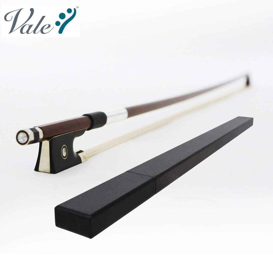 VALE Prima Violin Bow with Light Weight Bow Case (Full Size)
