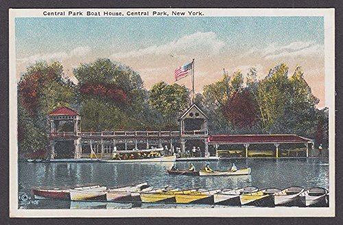 (Central Park Boat House Central Park New York NY postcard 1920s)