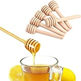 Honey Dippers Wooden Stirrers 8cm Portable Mini Jam Stirring Rod Set of 50