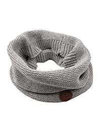 Knitted Baby Boys Girls Scarf Warm Autumn Winter Toddler Scarves Cotton (Gray)