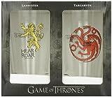 Dark Horse Deluxe Game of Thrones Pint Glass Set: Targaryen and Lannister For Sale