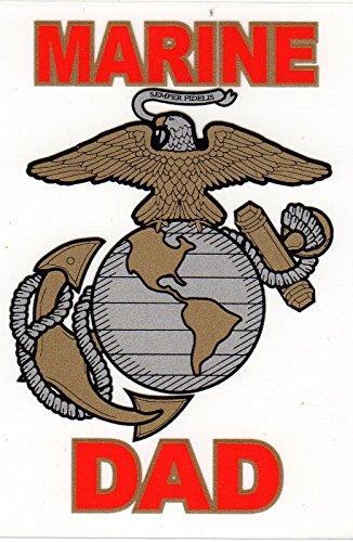 (None Marine Dad Decal Sticker )