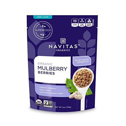 - Navitas Organics Mulberries, 4 oz. Bag — Organic, Non-GMO, Sun-Dried, Gluten-Free, Sulfite-Free