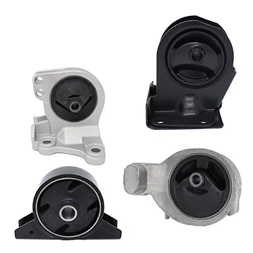 Engine Motor and Trans Mount Set of 4 for 1999-2005 Mitsubishi Dodge Stratus Coupe 2.4L Automatic Trans A6699 A4621 A4612 A4602 ()