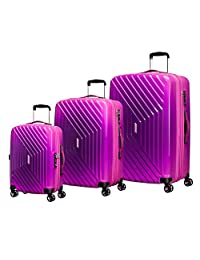 American Tourister Air Force 1 3-Piece Nested Set (Co/Med/Large), Gradient Pink, Checked – Large
