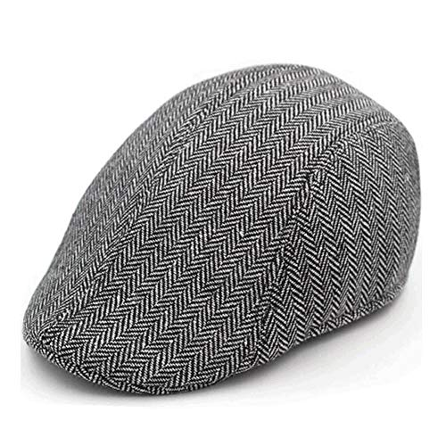 LDDENDP Middle-aged Hat Male Spring and Summer Beret Casual Hat Old Man Looking Forward Hat Autumn and Winter Old Man Hat Newsboy Driving Cap Flat-top Hat Male Gatsby Hat Old Hat, Casual, Refreshing,