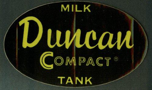 - Duncan Compact Milk Tank crack-&-peel sticker unused