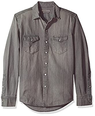 Calvin Klein Jeans Men's Long Sleeve Denim Shirt
