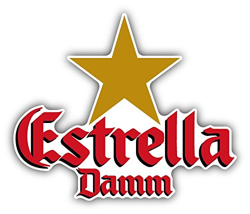 estrella-damm-beer-drink-car-bumper-sticker-decal-14-x-115