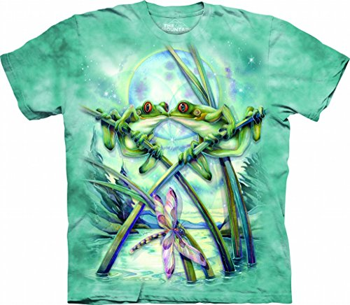 - The Mountain Frogs & Kisses Child T-Shirt, Teal, XL