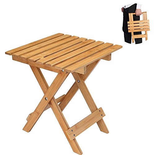 Utoplike Foldable Stool Bamboo Stool Bamboo Folding Stool For Indoor And Outdoor Garden Picnic Sitting Resting by Utoplike