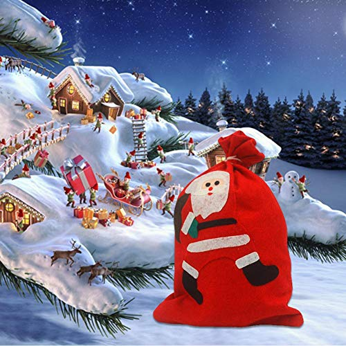 Biback Christmas Gift Bag Santa Claus Snowman Small Bag Christmas Drawstring Bag Christmas Candy Bag Christmas Decorations Candy Bags by Biback (Image #2)