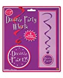 Beistle 57568 5-Pack Divorce Party Whirls, 3-Feet 4-Inch