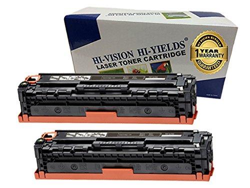 HI-VISION Compatible CF210X Black (HP 131X) Premium High Yield Toner Cartridge Replacement for LaserJet Pro 200 MFP M276nw, M276n, M251nw, M251n Color Laser Printers (2 packs) ()